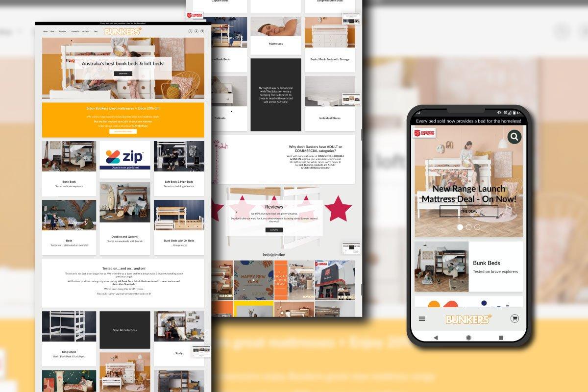 Bunkers Shopify website development